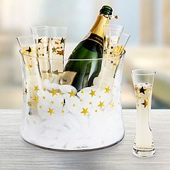 Artland 7-piece Stars Champagne Glass & Bucket Set