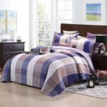 Everrouge Royal Republic Pima Cotton Plaid 3-piece Duvet Cover Set