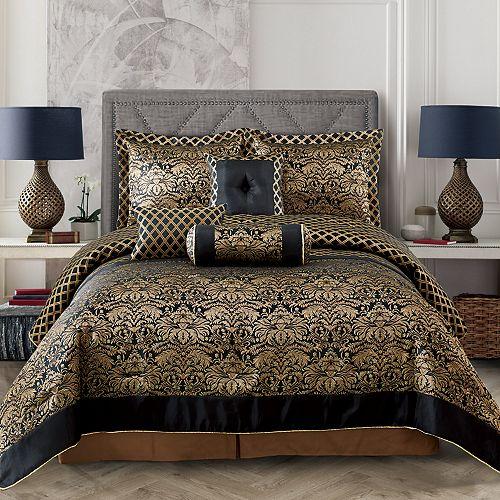Everrouge Lyon Luxury Jacquard 7-piece Comforter Set