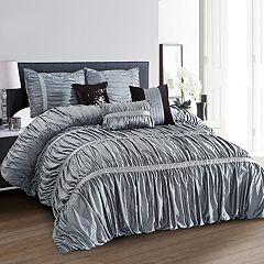 Everrouge Sophia All Season Silk Floss 7-piece Comforter Set