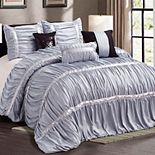 Everrouge Sophia All Season Silk Floss 7-piece Comforter Set