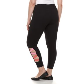 Plus Size French Laundry Lattice Capri Leggings
