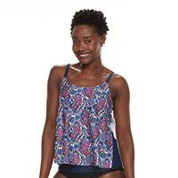 Women's Croft & Barrow® Printed Crochet Tankini Top