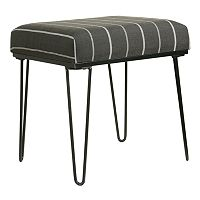HomePop Charcoal Stripe Stool End Table