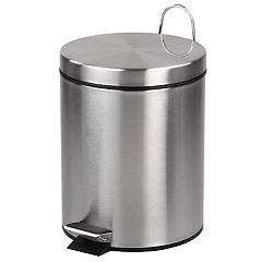 Home Basics 5-liter Stainless Steel Matte Wastebasket