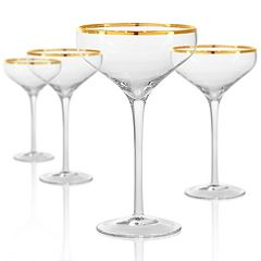 Artland 4-piece Gold Band Champagne Coupe Set