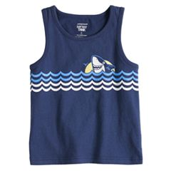 Toddler Boy Jumping Beans® Shark Waves Softest Tank Top