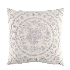 LC Lauren Conrad Gray Medallion Throw Pillow