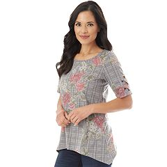 Women's Apt. 9® Lattice Sleeve Tee