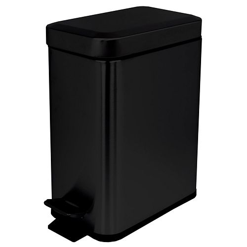 Home Basics 5-liter Stainless Steel Slim Wastebasket