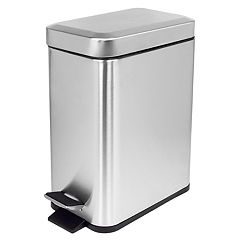 Home Basics 5-liter Stainless Steel Slim Wastebasket