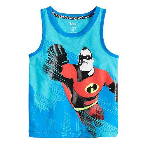 Incredibles boys blue 3T tank top