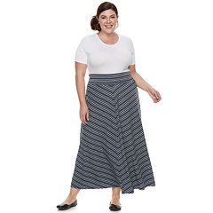 Plus Size Apt. 9® Stripe Maxi Skirt