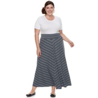 Plus Size Apt. 9® Stripe Maxi Skirt