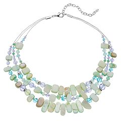 Napier Shell Composite Multistrand Necklace