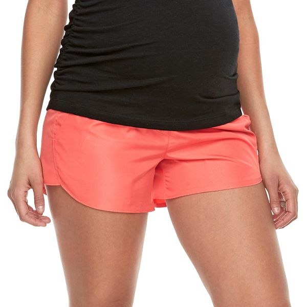 Maternity A Glow Full Belly Panel Running Shorts