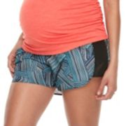 Maternity a:glow Full Belly Panel Running Shorts