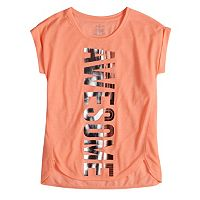 Girls 7-16 SO® Easy Roll Cuff Foil Graphic Tee