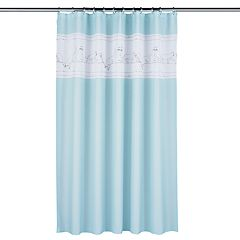 One Home Embroidered Kitty Cat Shower Curtain