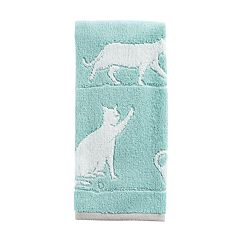 One Home Jacquard Kitty Cat Hand Towel