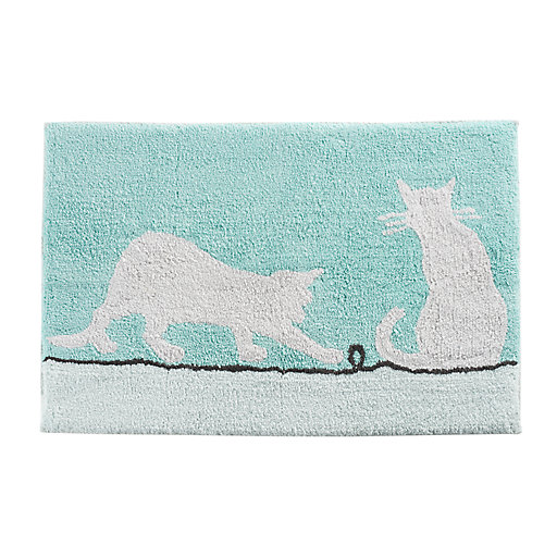 One Home Colorblock Kitty Cat Bath Rug