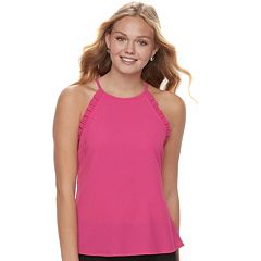 Juniors' Candie's® Ruffled High-Neck Tank