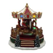 St. Nicholas Square® Village Christmas Carousel with Motion, Music & Lights
