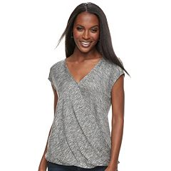 Women's Apt. 9® Faux-Wrap Tee