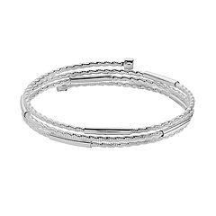 Napier Textured Coil Bracelet