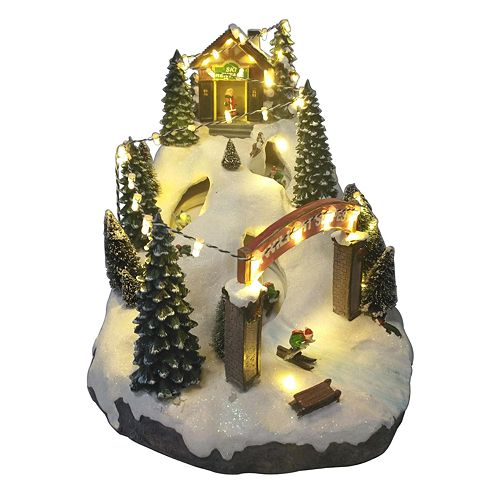 St Nicholas Christmas Village.St Nicholas Square Village Twilight Slope With Motion