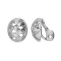 Napier Textured Woven Button Stud Earrings