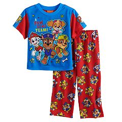Toddler Boy Paw Patrol Chase, Marshall, Rubble & Skye Top & Bottoms Pajama Set