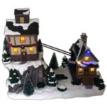 St. Nicholas Square® Village Houses & Gondolas with Motion