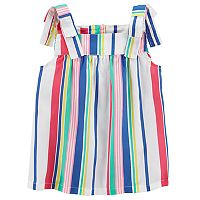 Girls 4-8 Carter's Shoulder Tie Poplin Tank Top