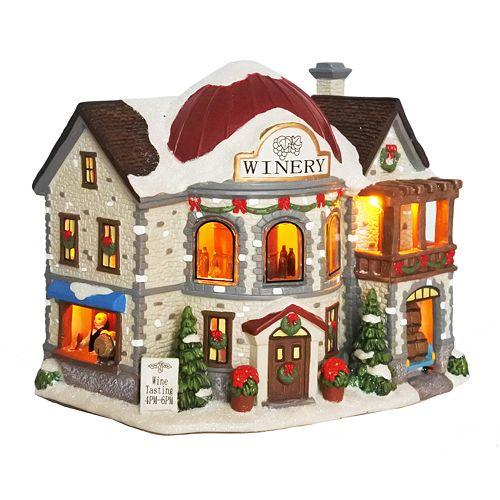 St Nicholas Christmas Village.St Nicholas Square Village Winery With Motion
