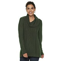 Women's Napa Valley Cable-Knit Cowlneck Sweater