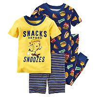 Boys 4-12 Carter's Snacks 4-Piece Pajama Set