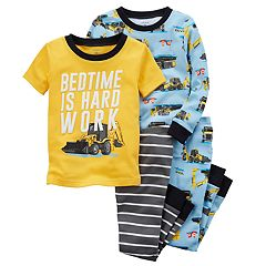 Boys 4-8 Carter's Construction 4 pc Pajama Set
