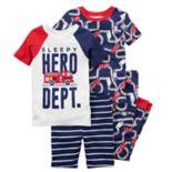 Boys 5-12 Carter's Firetruck 4 pc Pajama Set