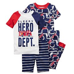 Boys 5-12 Carter's Firetruck 4 pc Pajama Set