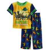 Toddler Boy Jurassic Park Raptors Top & Bottoms Pajama Set