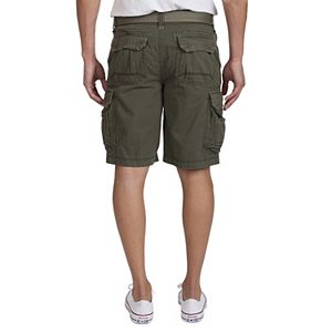Big & Tall Unionbay Cordova Messenger Belted Cargo Shorts