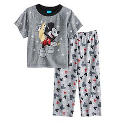 Disney's Mickey Mouse Toddler Boy Moon Top & Bottoms Pajama Set