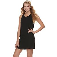 Juniors' Pink Republic Keyhole Back Shift Dress