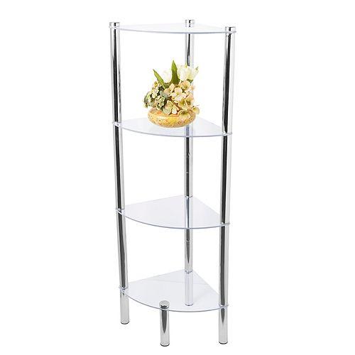 Home basics 4-Tier Corner Bathroom Shelf