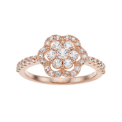 Pure Radiance Diamond Accent Flower Ring
