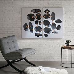 INK+IVY Liquid Stones Canvas Wall Art 2-piece Set