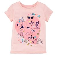 Girls 4-8 Carter's Fun Glitter Graphic Tee