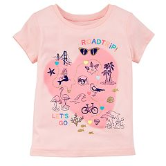 Girls 4-8 Carter's Fun Glitter Graphic Tee
