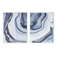 Madison Park Agate Canvas Wall Art 2-piece Set